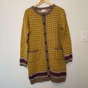 Mak B Long Thick Cardigan Coat